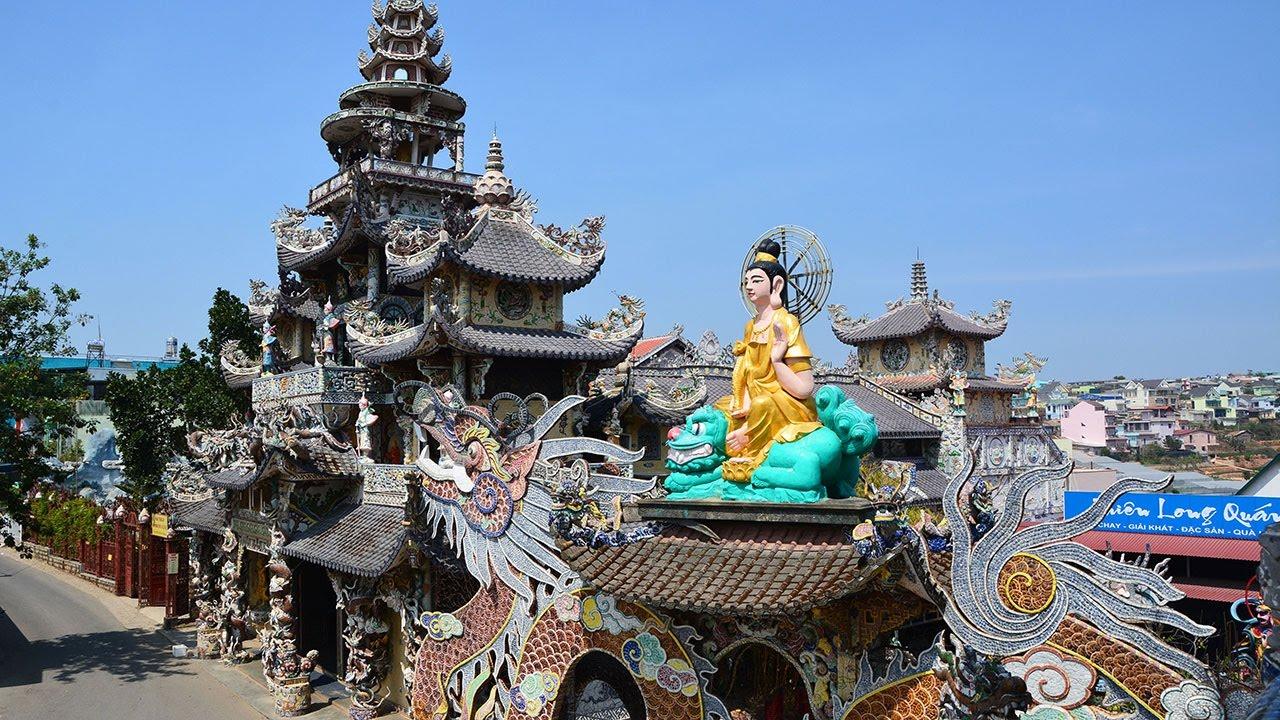 du lịch nhà trang đà lạt chùa linh phước