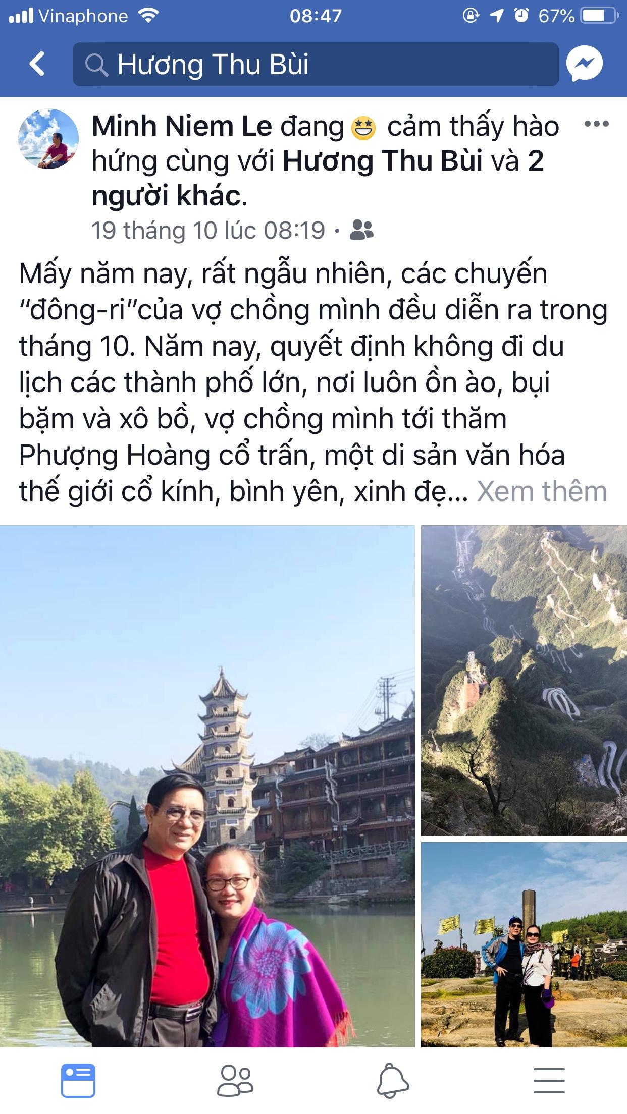 Hình ảnh khách hàng đi tour Phượng Hoàng Cổ Trấn Trương Gia Giới 17/10 tại Tiên Phong Travel