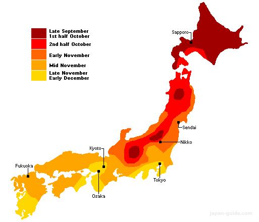 Du lịch Nhật Bản Tiên Phong Travel - Mùa thu Nhật Bản từ tháng mấy?
