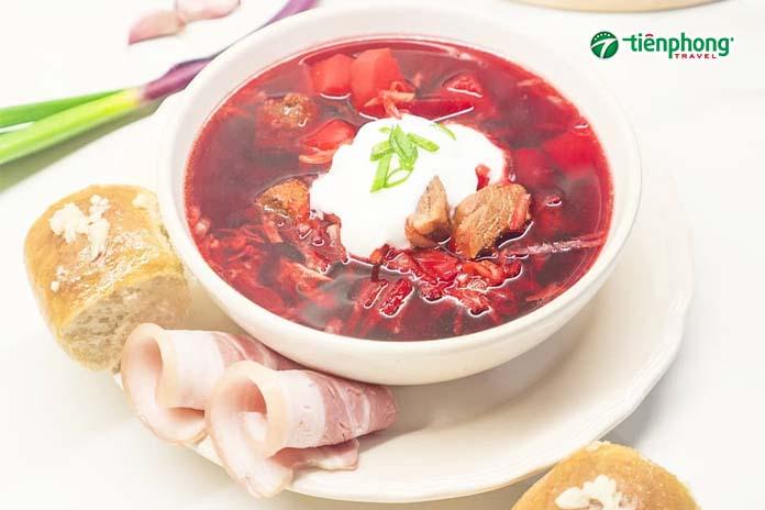món ăn súp củ cải đỏ Borshch Nga