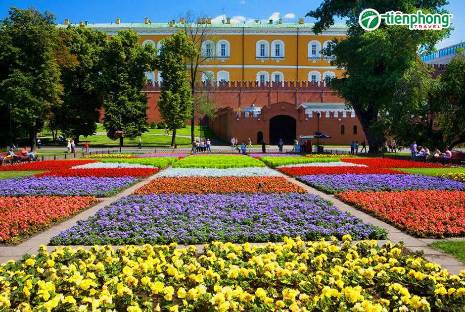Vườn Alexandrovskiy nước nga
