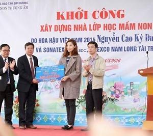 Tienphong Travel cùng hoa hậu Kỳ Duyên thiện nguyện tới vùng cao