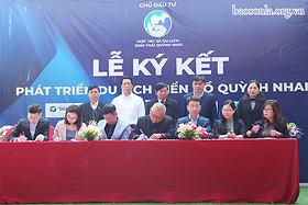 Ký kết phát triển du lịch biển hồ Quỳnh Nhai